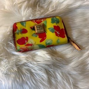 Dooney and Bourke PVC floral wallet
